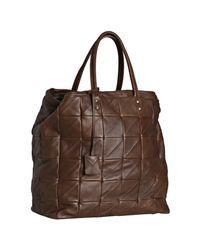 Saint Laurent | Brown Bordeaux Matelassã© Leather Large Monogram Shopping Tote | Lyst
