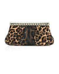 Christian Louboutin | Multicolor Kathena Pony Leopard Clutch | Lyst