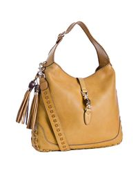 Gucci | Yellow Ocre Whipstitch Leather New Jackie Large Hobo | Lyst