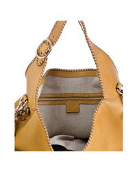 Gucci - Yellow Ocre Whipstitch Leather New Jackie Large Hobo - Lyst