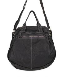 Sissi Rossi | Black Washed Bufalo Tote | Lyst