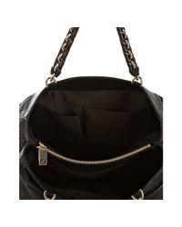 Fendi - Black Pebbled Nappa Mia Chain Bag - Lyst
