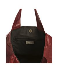 Beirn - Red Scarlet Snakeskin Erica East/west Tote - Lyst
