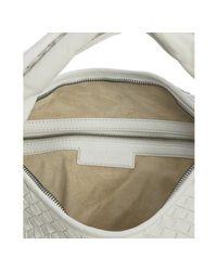 Bottega Veneta | White Woven Leather Large Hobo | Lyst