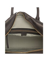 Céline - Gray Grey Calfskin Top Handle Large Bowling Bag - Lyst