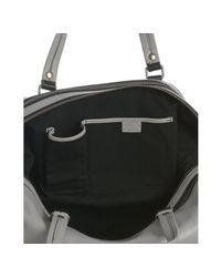 Céline - Gray Light Grey Leather Medium Duffel Bag - Lyst