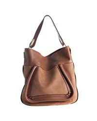 Chloé - Brown Tan Suede Calfskin Paraty Shoulder Bag - Lyst