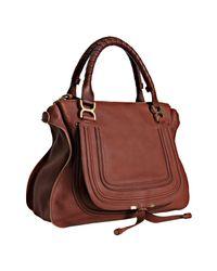 Chloé | Brown Marcie Leather Bag | Lyst
