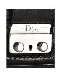 Dior - Black Leather New Lock Perforated Shoulder Bag - Lyst