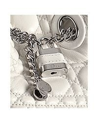 Dior - White Quilted Lambskin Chri-chri Bucket Bag - Lyst