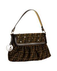 Fendi | Brown Zucca Chef Star Detail Medium Shoulder Bag | Lyst