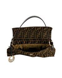 Fendi - Brown Zucca Chef Star Detail Medium Shoulder Bag - Lyst