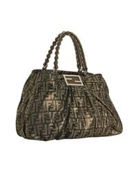 Fendi - Brown Tobacco and Gold Zucca Canvas Chain Tote - Lyst