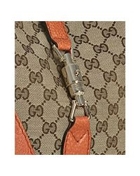 Gucci   Natural Orange Gg Canvas New Jackie Small Hobo   Lyst