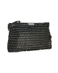 Jimmy Choo | Black Zulu Studded Leather Clutch | Lyst