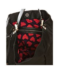 Marc By Marc Jacobs | Black Leather Bow Wow Wow Leola Hobo | Lyst