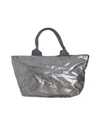 Marc By Marc Jacobs | Metallic Silver Aluminum Coated Canvas Tote Bag | Lyst