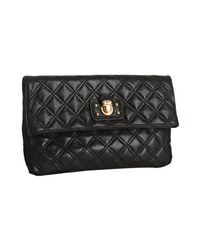 Marc Jacobs | Black Quilted Leather Eugenie Large Clutch | Lyst