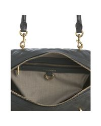 Marc Jacobs - Gray Dark Grey Quilted Leather Westside Boston Bag - Lyst