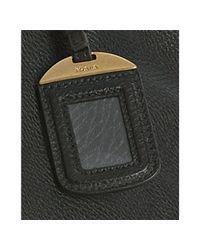 Prada | Black Pebble Leather Logo Detail Tote | Lyst
