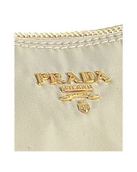 Prada - White Cream Nylon Gabardine Logo Shoulder Bag - Lyst