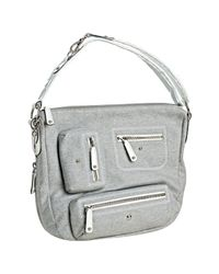 Tod's | Gray Heather Grey Nylon Pashmy Shoulder Bag | Lyst