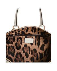 Dolce & Gabbana - White Nappa Leather Ruffle Trim Top Handle Bag - Lyst