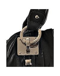 Junior Drake - Black Leather Breanna Pleated Medium Shoulder Bag - Lyst