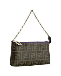 Fendi | Brown Tobacco Quilted Zucca Fabric Forever Baguette | Lyst