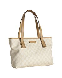 Gucci | White Sand Gg Plus Joy Medium Tote | Lyst