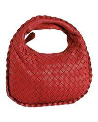 Bottega Veneta | Red Woven Leather Small Handbag | Lyst