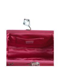 Prada - Pink Fuchsia Satin Crystal Kisslock Clutch - Lyst