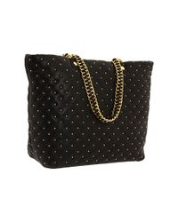Badgley Mischka | Black Kelly Studded Leather Tote | Lyst