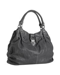 Sorial - Gray Steel Grey Leather Gathered Large Hobo - Lyst