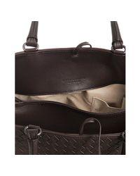 Bottega Veneta - Brown Intrecciato Nappa Milano Bag - Lyst