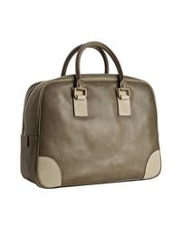 Céline | Green Moss Leather Top Handle Large Boston Bag | Lyst