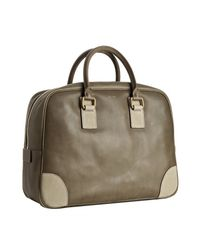 Céline   Green Moss Leather Top Handle Large Boston Bag   Lyst