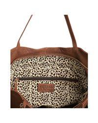 Sorial - Brown Brandy Leather Zip Detail Large Tassel Tote - Lyst