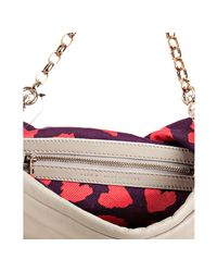 Marc By Marc Jacobs - Gray Elephant Leather Linda Bow Front Clutch Bag - Lyst