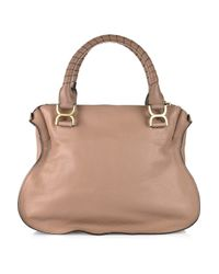 Chloé | Natural Marcie Leather Bag | Lyst