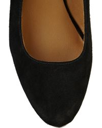 Kors by Michael Kors | Black Cassie Suede Rubber Wedges | Lyst