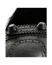 Balenciaga | Gray Leather Ballerinas | Lyst