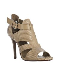 BCBGMAXAZRIA | Brown Doe Python Stamped Haze Sandals | Lyst