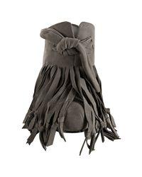 Camilla Skovgaard - Gray Grey Suede Knot Tassel Platform Mules - Lyst