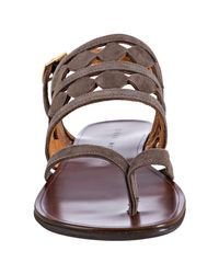 Chie Mihara | Brown Taupe Suede Wiska Cutout Thong Sandal | Lyst