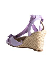 Christian Louboutin - Purple Lilac Nappa Leather Isa 90 Ankle-tie Espadrilles - Lyst