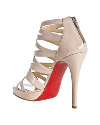 Christian Louboutin - White Fernando 120 Patent Leather Sandals - Lyst