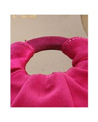 Christian Louboutin - Hot Pink Satin Pigirl Flats - Lyst