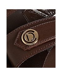 Dior - Brown Chocolate Leather Initiales Platform Sandals - Lyst