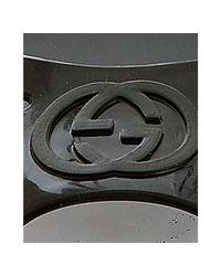 Gucci - Black Rubber Marola Interlocking G Detail Sandals - Lyst